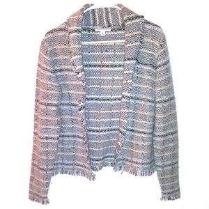 BANANA REPUBLIC womens wool jacket Size M Knit Gra